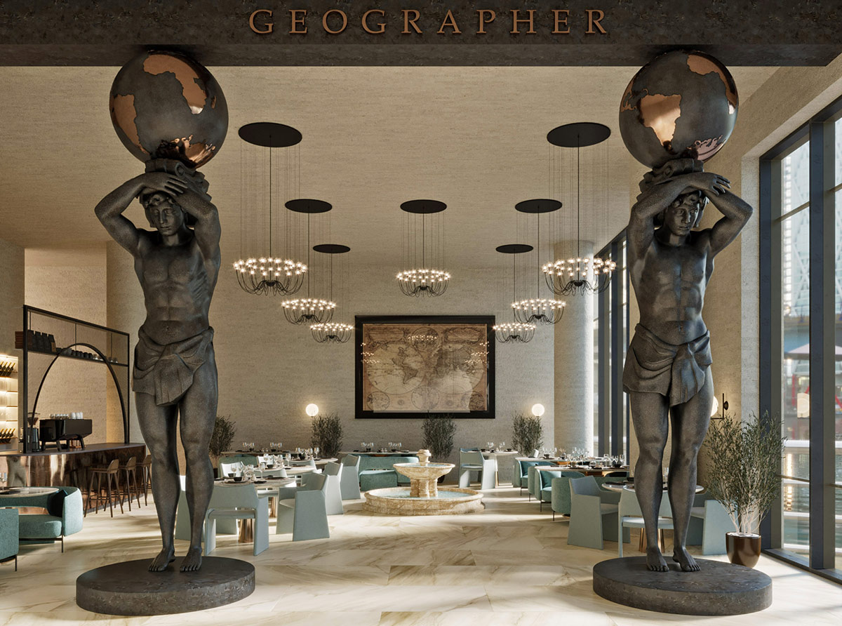 Geographer restaurant interior design
